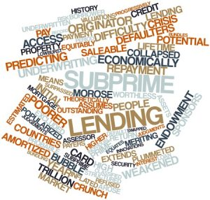 16446010 - abstract word cloud for subprime lending with related tags and terms